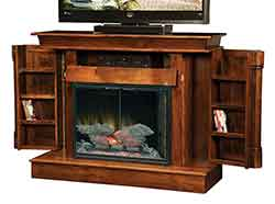 We offer a wide assortment of Amish crafted fireplaces. Custom crafted out of solid hardwoods like oak