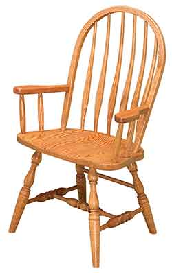 Solid Bent Feather Arm Chair Also Known As A Bent Back Arm Chair