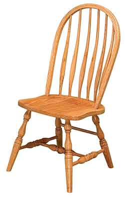 Amish Custom Made Solid Red Oak. Solid Bent Feather Side Chair Also Known  As A Bent Back Side Chair