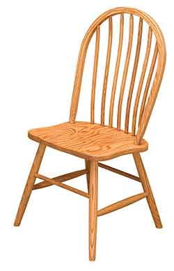 Bow Back Econo Side Chair in Solid Red Oak  sc 1 st  Woodloft.com : bow back chair - Cheerinfomania.Com