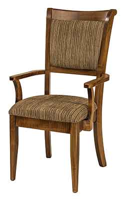 Awesome Amish Crafted Adair Formal Dining Arm Chair Crafted Out Of Brown Maple With  Nutmeg Stain Color.