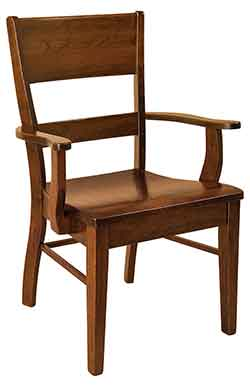 Amish Crafted Genesis Arm Dining Chair. Amish Custom Crafted Glenmont