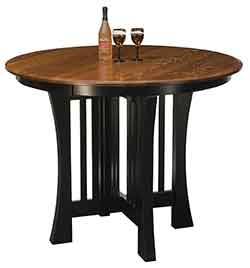 The wood loft amish custom kitchen and dining room tables for Arts and crafts kitchen table