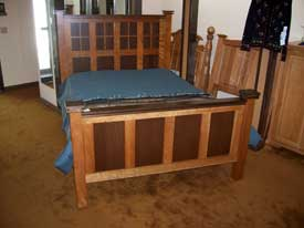 Cherry Walnut Shaker Style Bed