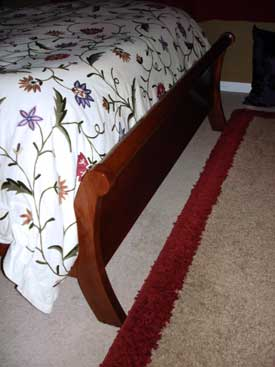 Close Up Solid Footboard