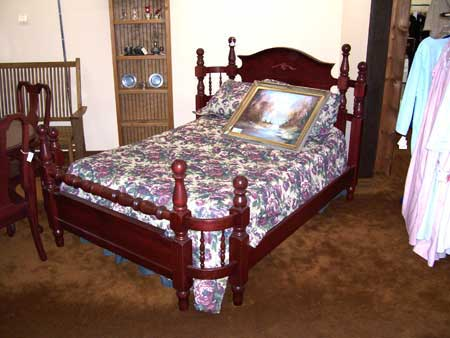 With Fruitwood Stain Color Custom Amish Made Dark Wraparound Bed