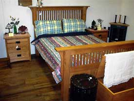 Mission Cherry Double Bed