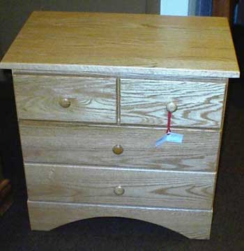 Custom Amish Made Oak Mission Nightstand or Endtalble