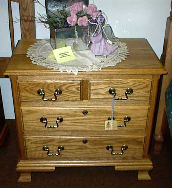 Custom Amish Made Oak Standard Nightstand or Endtalble