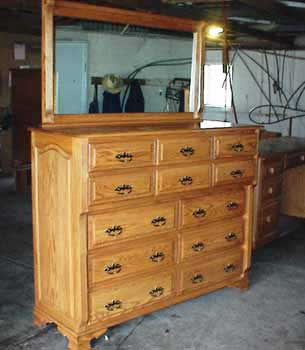 Custom Amish Made Chest on Chest with Mirror