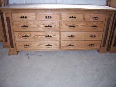Wood Dressers on Woodloft Com   Locally Amish Custom Crafted Solid Wood Dressers