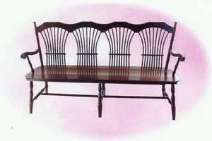 Amish Made Wheatland Bench