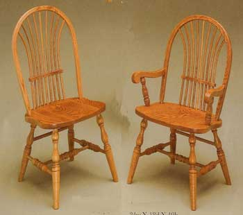 Amish Made Bow Sheaf Chair