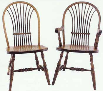 Amish Made Bow Wheat Chair