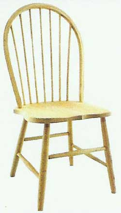 Amish Made Bent Spindle Chair