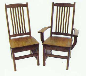 Amish Made Mission Crescent Chair