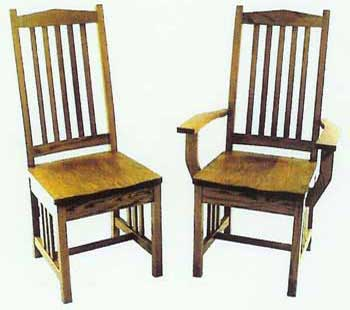 Amish Made High Mission Chair