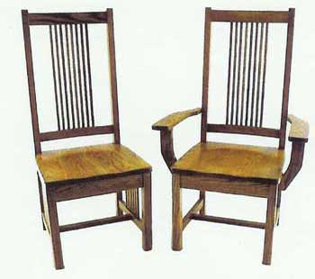 Amish Made Prairie Mission Chair