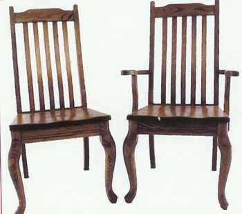 Amish Made Michian Queen Anne Chairs