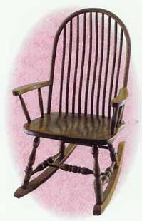 Amish Made Deluxe Bent Spindle Rocker