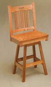 Amish Made Bayhill Swivel Stool