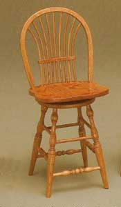 Amish Made Bow Sheaf Stool