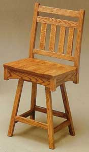 Amish Made Bradford Swivel Stool