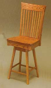 Amish Made Carlisle Swivel Stool