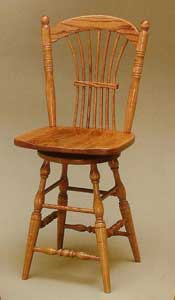 Amish Made Mason Swivel Stool
