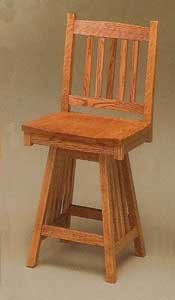 Amish Made Mission Swivel Stool