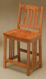 Amish Made Mission Stool