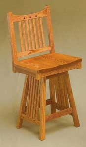Amish Made Royal Mision Swivel Stool