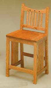 Amish Made Royal Mission Stool