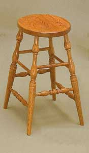 Amish Made Scooped Stool