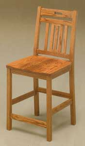 Amish Made Scrollback Stool