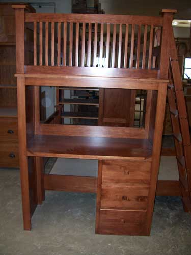 Amish Custom Made Cherry Bunkbeds