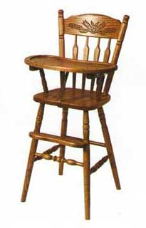 Amish Made Wheatback High Chair