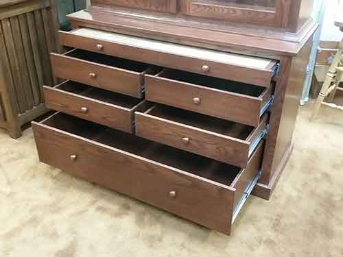 ... Locally Amish Custom Made Cherry Gun Cabinet Safe Lower Storage Drawers : custom made gun cabinets - Cheerinfomania.Com