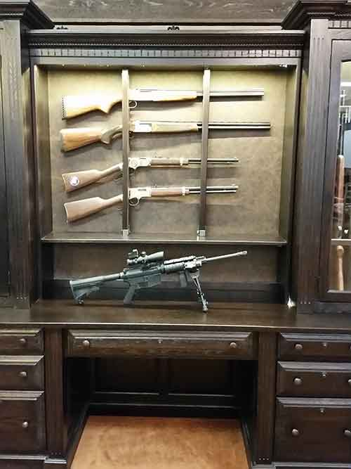 Locally Amish Custom Made Gun Safe Cabinet With Horizontal Display