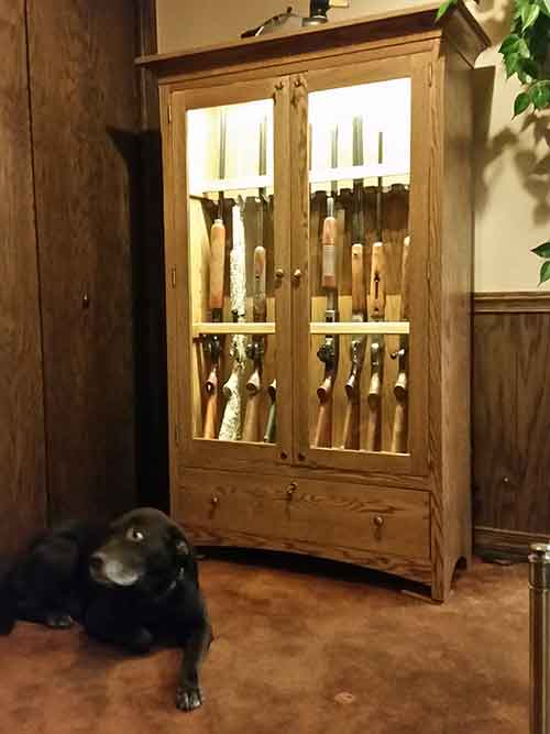 Amish Custom Handcrafted Long Gun Cabinet