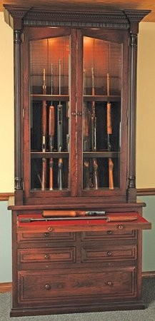 The Woodloft 12 Gun Amish Custom Gun Cabinet