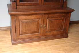 Locally Amish Custom Made Gun Cabinet Safe Bottom Doors Closed