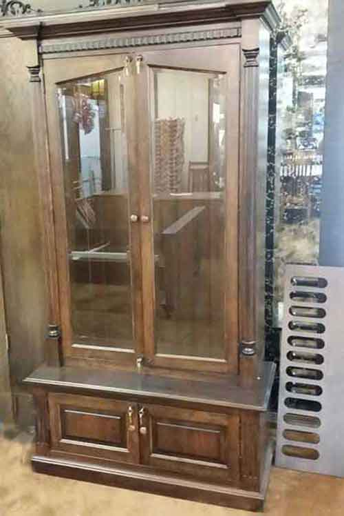 Locally Amish Crafted Cherry Gun Wall Unit Full Front View