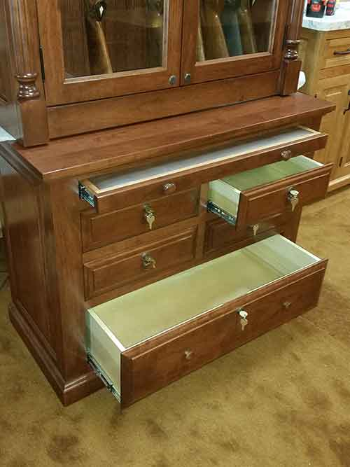 Woodloft Com Leather Gun Inserts And Solid Maple Drawers