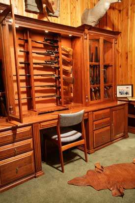 Amish custom made gun cabinets and safes for Front room furniture sale