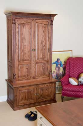 Locally Amish Custom Made Gun Safe Cabinet Inverted Gun Storage