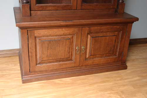 Interior Cabinet Bases woodloft com cabinet bases can be made with locks and gun safes locally amish custom safe bottom close up
