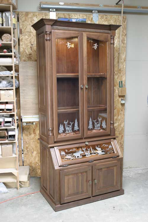 Locally Amish Custom Made Gun Safe Cabinet