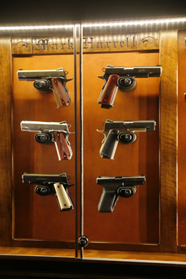 The Woodloft - Illinois Amish Custom Crafted Pistol Display