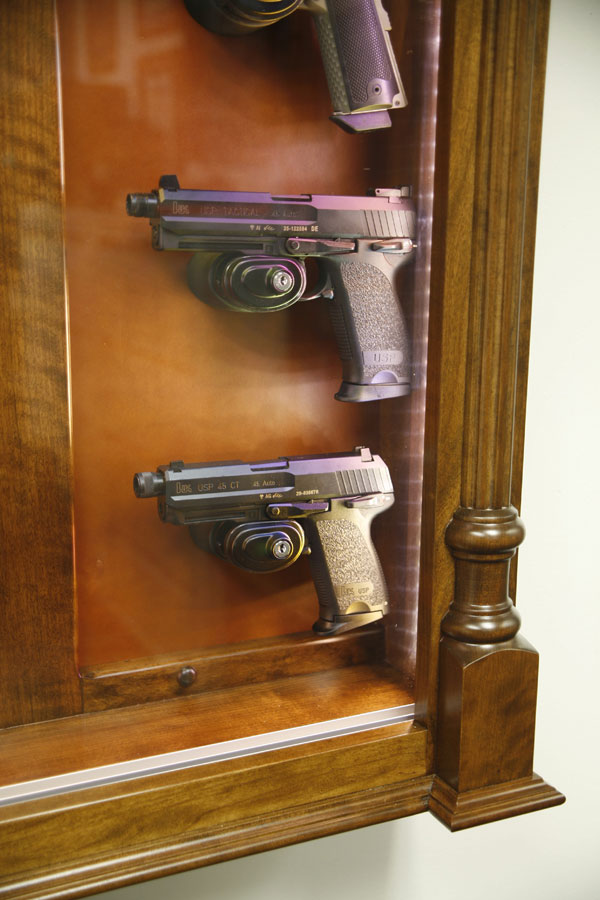 Center of our pistol display case